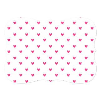 Modelo rosado mexicano de los corazones del brillo invitación 12,7 x 17,8 cm