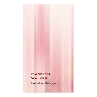 Modelo rosado moderno único elegante vertical tarjetas de visita