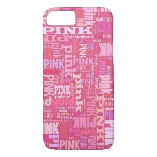 Modelo rosado oscuro del texto para los amantes funda iPhone 7