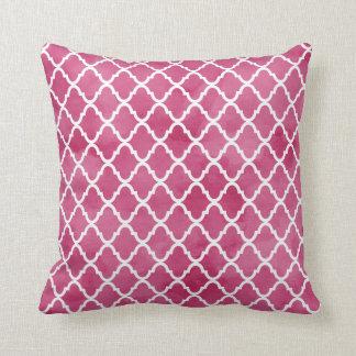 Modelo rosado oscuro elegante de Quatrefoil del Cojín Decorativo