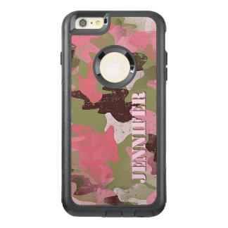 Modelo rosado verde militar de encargo del funda otterbox para iPhone 6/6s plus