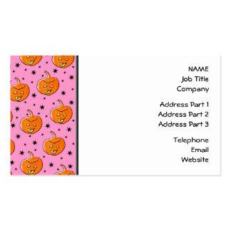 Modelo rosado y anaranjado para Halloween Tarjetas De Visita