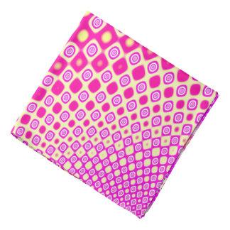 Modelo rosado y blanco abstracto bandanas