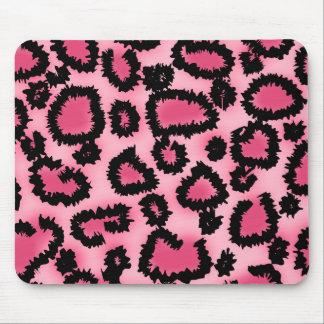 Modelo rosado y negro del estampado leopardo alfombrilla de ratón