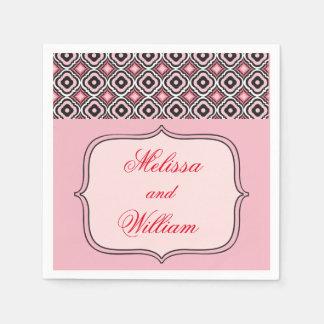Modelo rosado y negro servilleta de papel