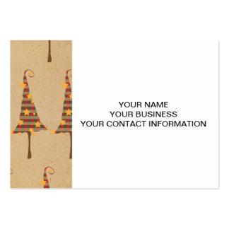 Modelo rústico de los árboles de navidad tarjetas de visita grandes