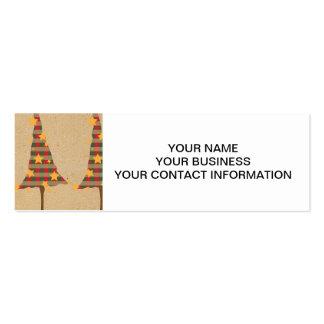 Modelo rústico de los árboles de navidad tarjeta personal