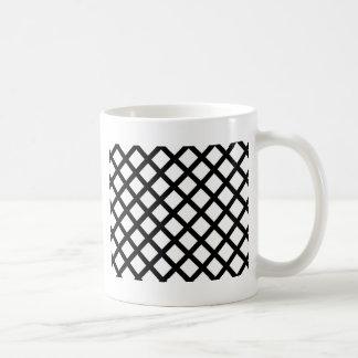Modelo simple blanco y negro taza de café