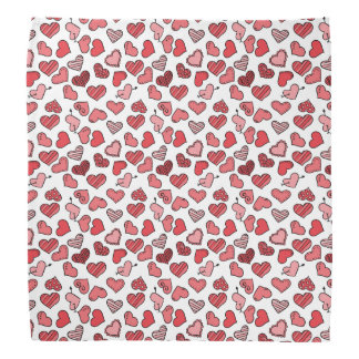Modelo simple de los corazones de la tarjeta del bandana