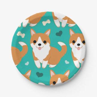 Modelo simple del ejemplo del perro lindo del plato de papel