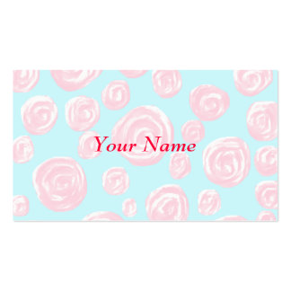 Modelo subió del rosa en colores pastel en azul tarjetas de visita