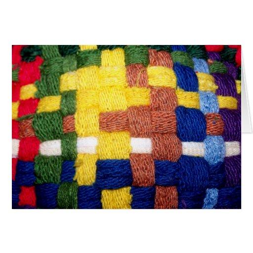 Modelo tejido colorido tarjeton