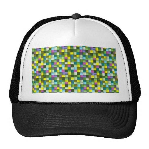 Modelo tejido mosaico moderno gorras de camionero