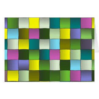 Modelo tejido mosaico moderno tarjeta de felicitación