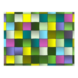 Modelo tejido mosaico moderno tarjeta postal