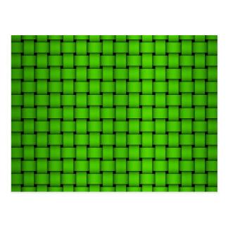 Modelo tejido verde postal
