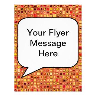 Modelo texturizado anaranjado de las tejas de mosa tarjeta publicitaria