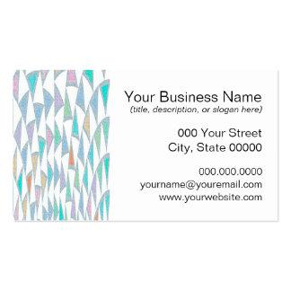 Modelo torcido del pastel de los triángulos plantilla de tarjeta de negocio