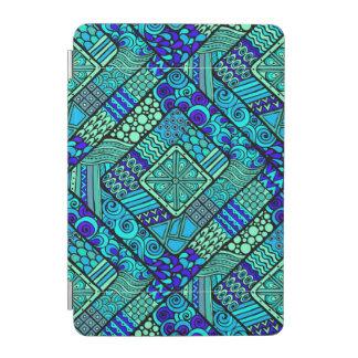 Modelo tribal abstracto azulverde de Boho Cover De iPad Mini