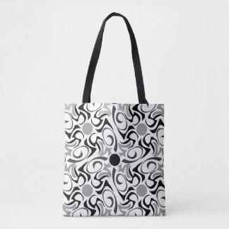Modelo tribal blanco y negro del grano del arroz bolsa de tela