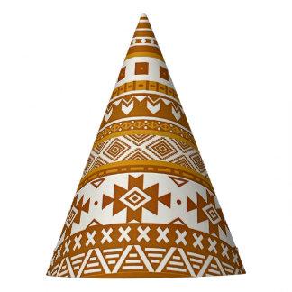modelo tribal de lujo de la frontera 08 (i) de oro gorro de fiesta
