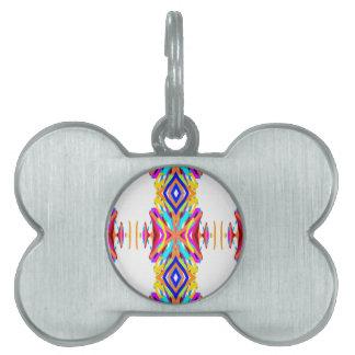Modelo tribal moderno elegante colorido placa para mascotas