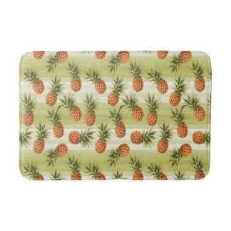 Modelo tropical anaranjado verde de la fruta de la alfombrilla de baño
