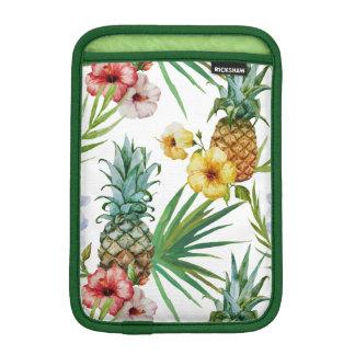Modelo tropical de la piña de la acuarela del tema funda para iPad mini