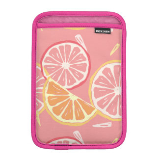 Modelo tropical del pomelo rosado y del limón de funda para iPad mini