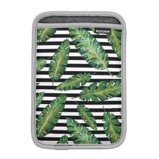 Modelo tropical del verano de la hoja del plátano funda para iPad mini