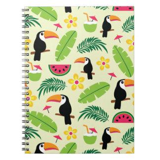 Modelo tropical del verano de Toucan Cuaderno