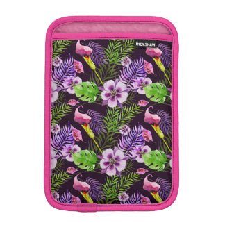 Modelo tropical púrpura negro de la acuarela de la funda para iPad mini