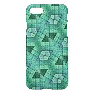 Modelo único abstracto azul del bloque funda para iPhone 7