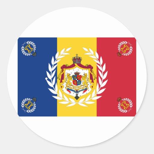 Modelo usado     del ejército 1881 rumanos, Rumani Etiquetas Redondas