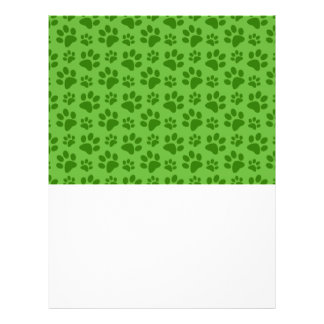 Modelo verde claro de la impresión de la pata del folleto 21,6 x 28 cm