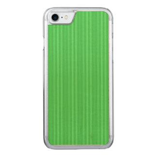 Modelo verde claro de las rayas verticales funda para iPhone 8/7 de carved