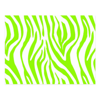Modelo verde claro del estampado de animales de la postal