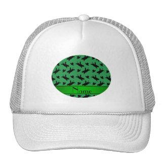 Modelo verde conocido personalizado del montar a gorros