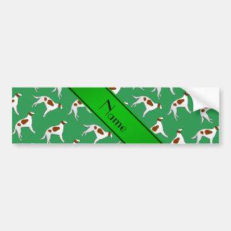 Modelo verde conocido personalizado del perro del pegatina para coche