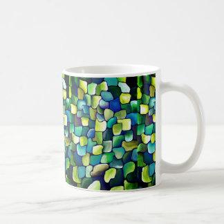 Modelo verde contemporáneo taza de café