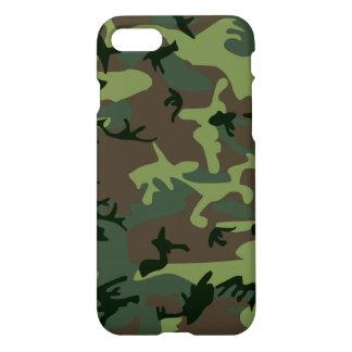 Modelo verde de Camo Brown del camuflaje Funda Para iPhone 7