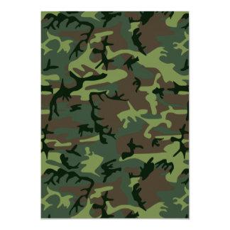 Modelo verde de Camo Brown del camuflaje Invitación 12,7 X 17,8 Cm