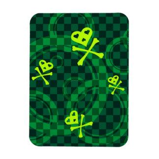 Modelo verde de Emo con los círculos Imán