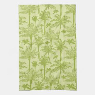 Modelo verde de las palmeras toalla