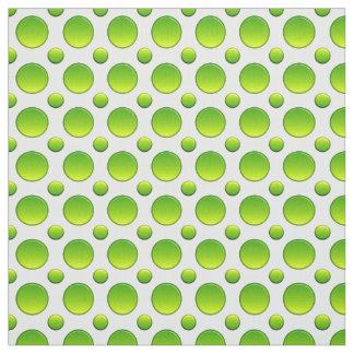 Modelo verde de los lunares tela