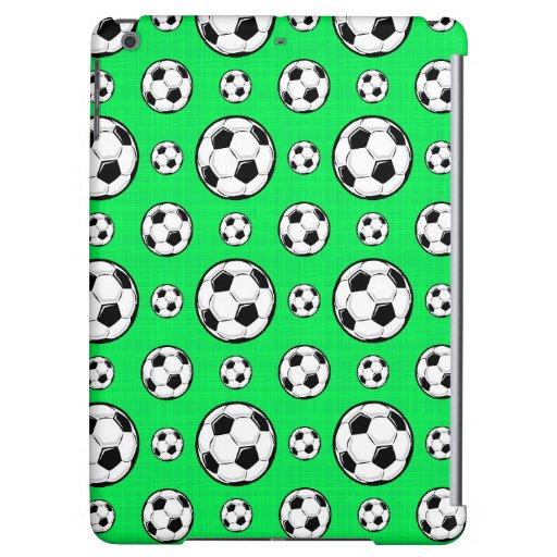 Modelo verde de neón del balón de fútbol