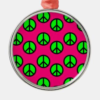 Modelo verde de neón del Hippie del signo de la Ornamentos De Navidad