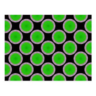 modelo verde del círculo postal