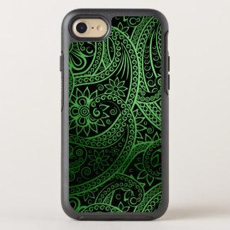 Modelo verde elegante de Paisley Funda OtterBox Symmetry Para iPhone 8/7