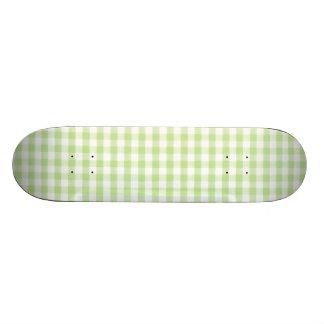 Modelo verde en colores pastel de la guinga patin personalizado